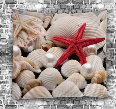 Shells & Star Fish Tapestry