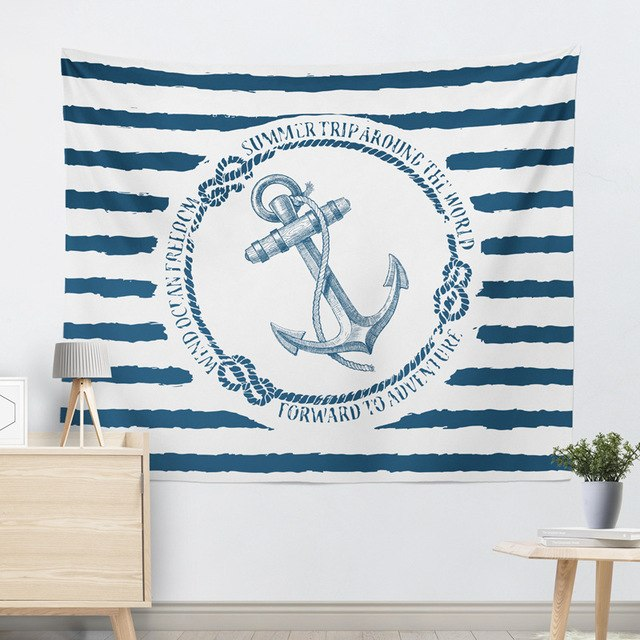 Anchor Stripe Tapestry