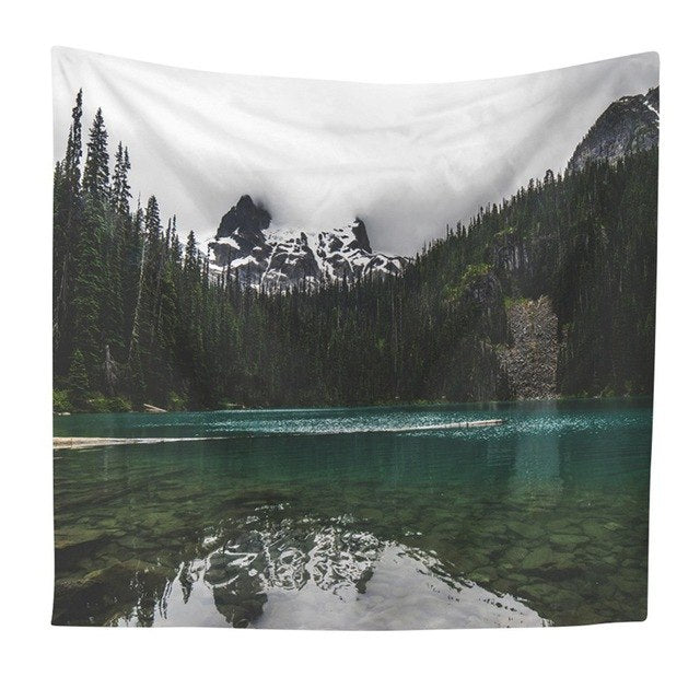 Forest Beach Tapestry