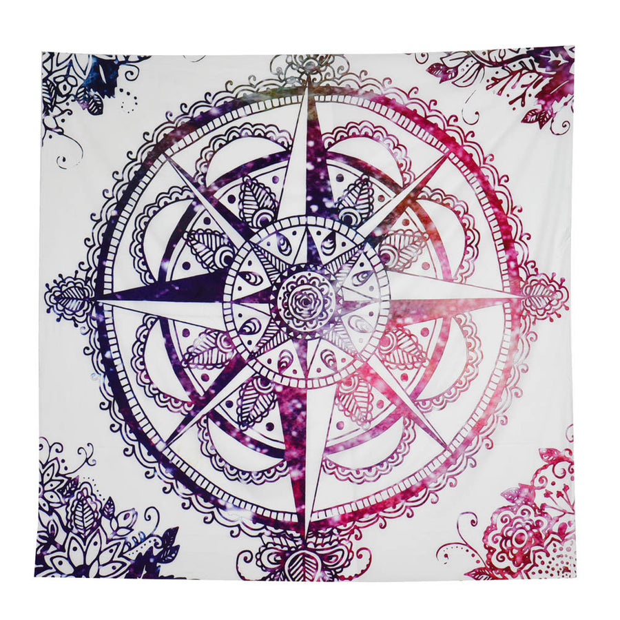 Explorer Compass Purple Wall Tapestry