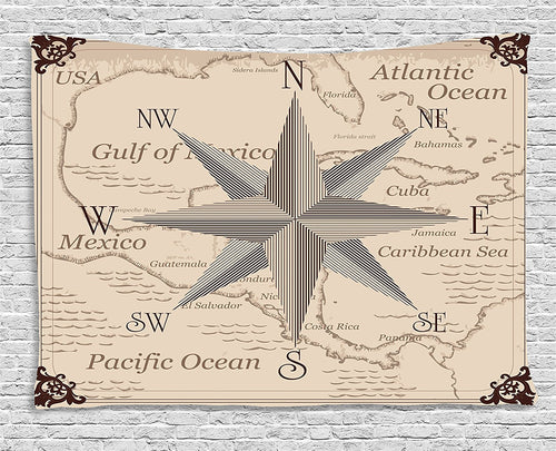 Explorer Map Wall Tapestry