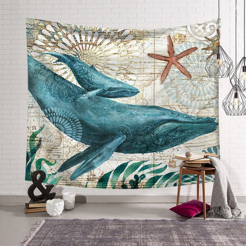 Blue Whale Tapestry