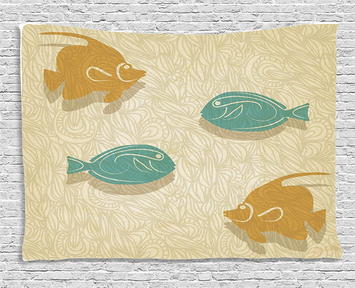 Four Fishes Tapestry