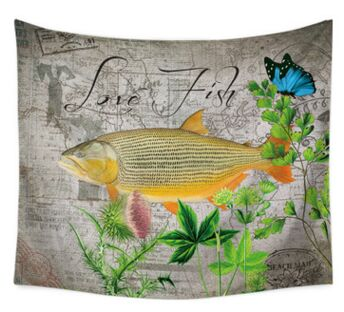Spotted Love Fish Tapestry