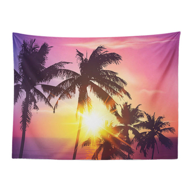 Sunset Coconut Tapestry