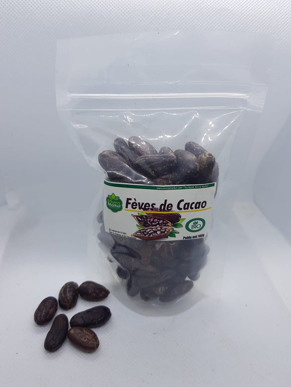 fèves de cacao natures