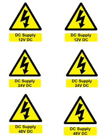 Battery Hazard label ( 6 x DC Supply ) - [The Power Store]