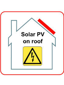PV on Roof Hazard Labels - [The Power Store]
