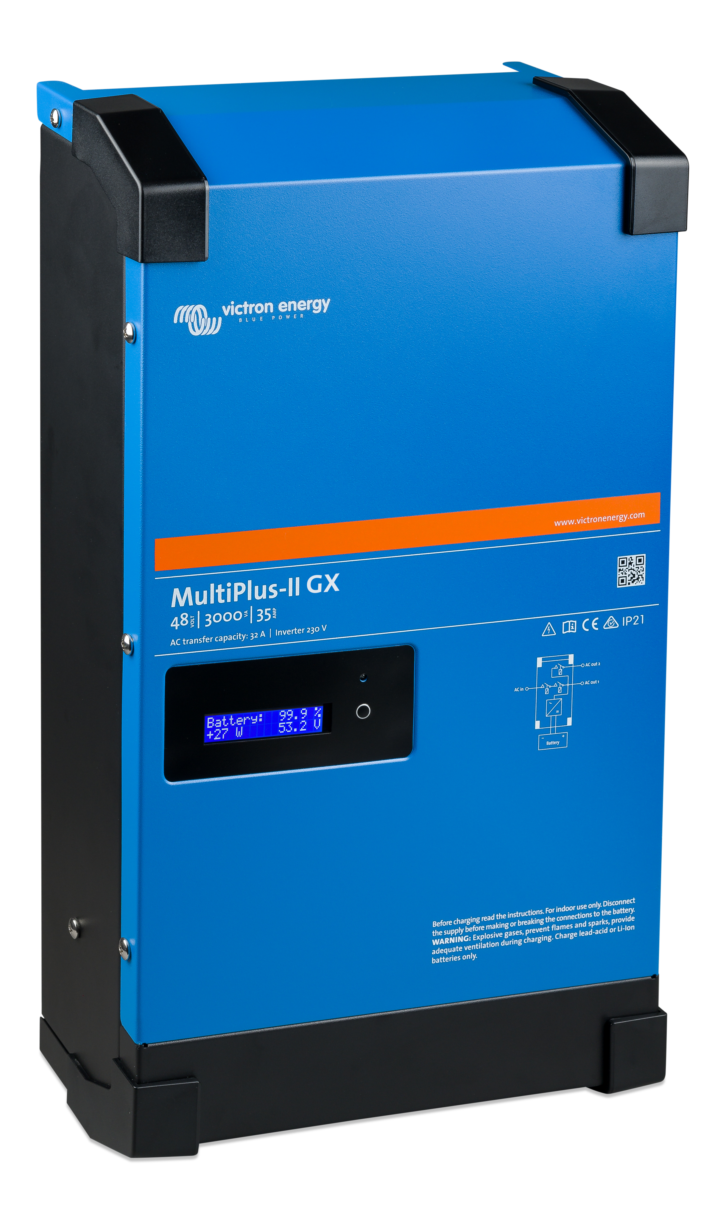 MultiPlus-II 48/3000/35-32 2400W Inverter/Charger With CGX - [The Power Store]