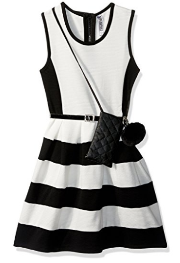 Mixed Colorblock Skater Dress