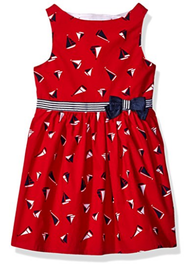 Printed Poplin Sailboat Dress