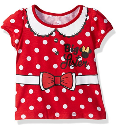 Little Girls' Minnie Mouse Big Sister Tee Shirt