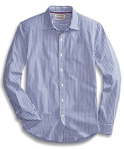 Slim-Fit Long-Sleeve Banker Striped Shirt