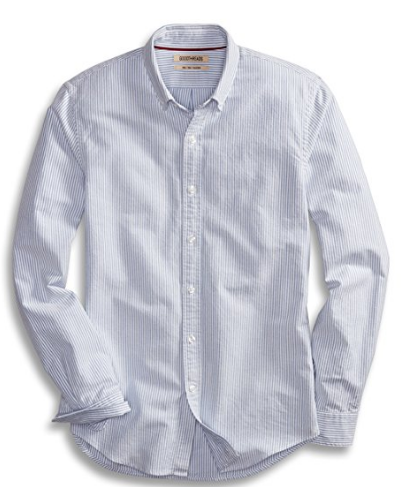 Slim-Fit Long-Sleeve Striped Oxford Shirt