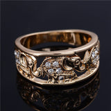 Gold Plated Diamond Elephant Ring Offer