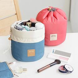 Barrel Cosmetic Travel Organizer Bag