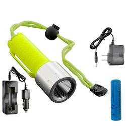 Diving Grade Cree Q5 White LED Flashlight (Set)