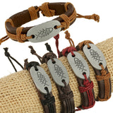 Fish Alloy Die-Casting Charm Leather Bracelets