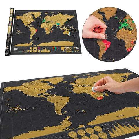 Wanderlust Travel Scratch World Map