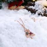 Zircon Christmas Tree Necklace