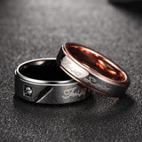True Love Titanium Couple Ring