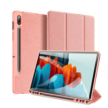 Dux Ducis DOMO Series Folio Flip Case PINK with S PEN HOLDER for Galaxy Tab S7 Plus
