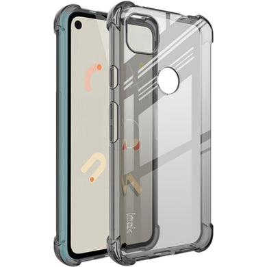 IMAK Silky Anti-drop TPU Case ASH + Screen Protector Film for Google Pixel 4A