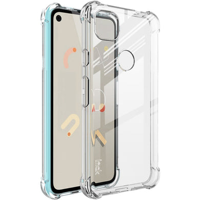 IMAK Silky Anti-drop TPU Case ICE + Screen Protector Film for Google Pixel 4A