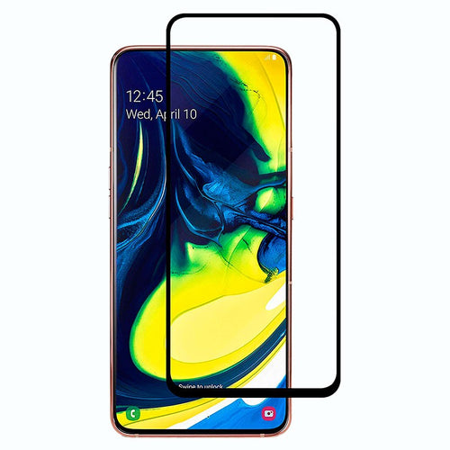 9H Full Coverage Clear Tempered Glass (Black Border) for Galaxy A80 / 90