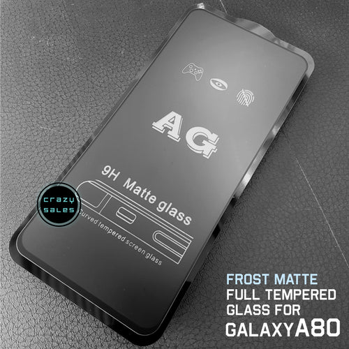 Frost Matte AntiGlare Full Tempered Glass for Galaxy A80 / A90