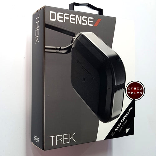 X-Doria Defense TREK Metal Shockproof Case BLACK for Apple AirPods Pro