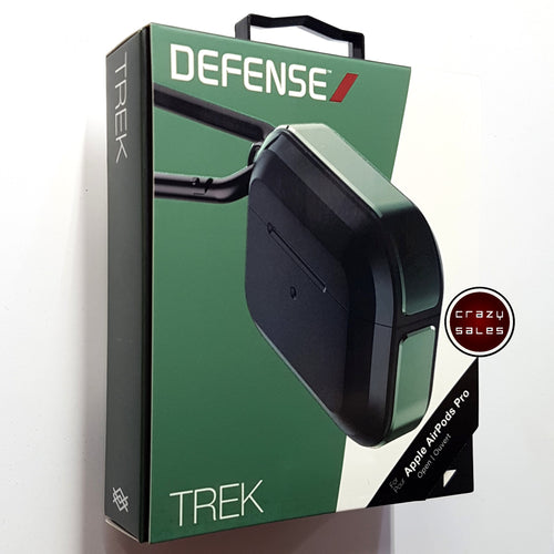 X-Doria Defense TREK Metal Shockproof Case MILITARY GREEN for Apple AirPods Pro