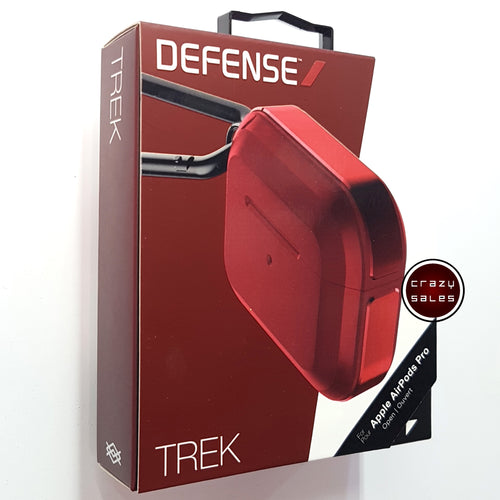 X-Doria Defense TREK Metal Shockproof Case RED for Apple AirPods Pro