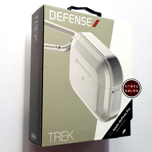 X-Doria Defense TREK Metal Shockproof Case SILVER for Apple AirPods Pro