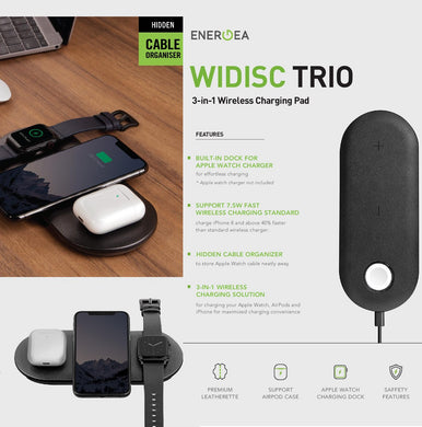 ENERGEA WIDISC TRIO 3IN1 FAST Wireless Charging Pad