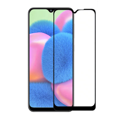 9H Full Coverage Clear Tempered Glass (Black Border) for Galaxy A01