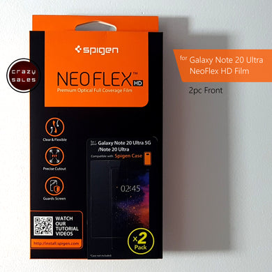 Spigen NeoFlex HD Screen Protector (Front 2pcs) for Galaxy Note 20 Ultra