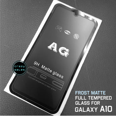 Frost Matte AntiGlare Full Tempered Glass for Galaxy A10 / M10