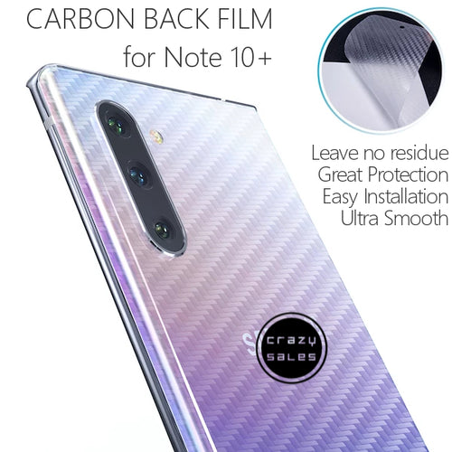 Carbon Back Film Protector for Galaxy Note 10+