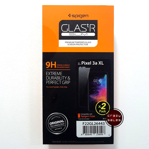 [2pc/pk] Spigen Glas.tR Slim Tempered Glass for Google Pixel 3A XL