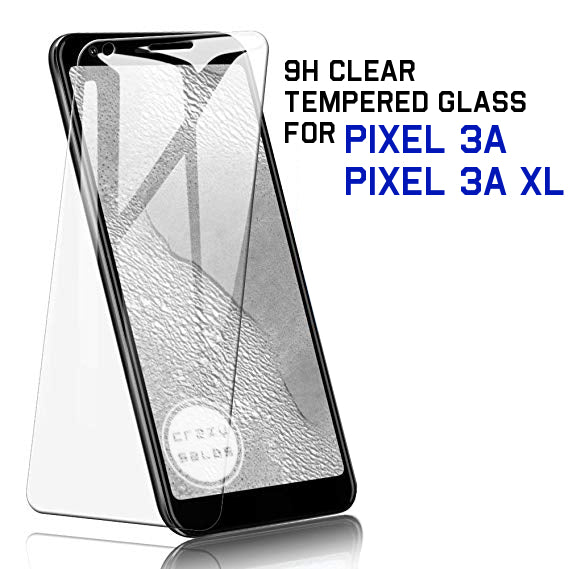 9H Clear Tempered Glass Protector for Pixel 3A XL / 3A
