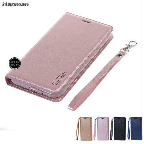 Hanman Premium Wallet Flip Case for Galaxy A01