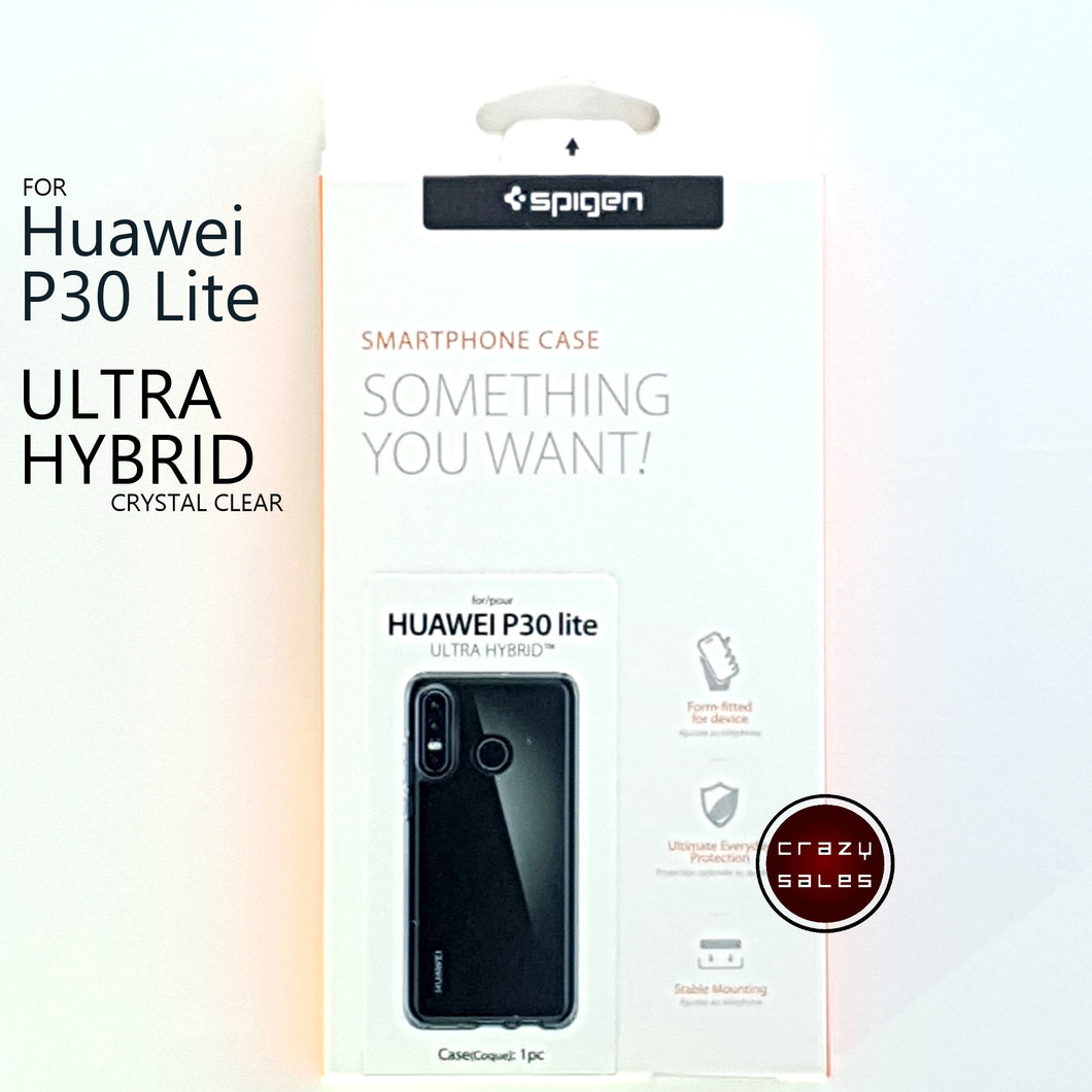 Spigen Ultra Hybrid Case CRYSTAL CLEAR for Huawei P30 Lite