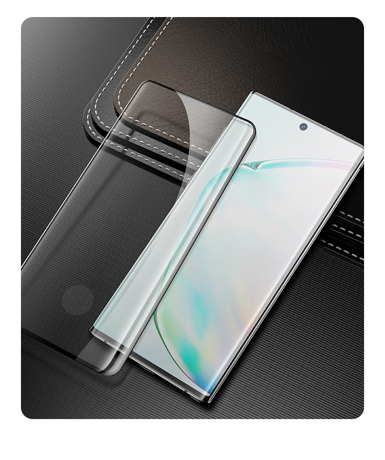 Curved Tempered Glass (Easy Installation) for Note 10 / 10+ (Support Fingerprint Unlock)