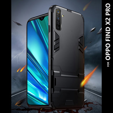 SLIM Kickstand Armor Case BLACK for OPPO Find X2 Pro