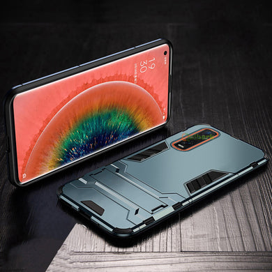 SLIM Kickstand Armor Case NAVY for OPPO Find X2 Pro