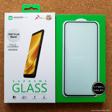 AMAZINGthing Clear Tempered Glass Protector for OnePlus Nord