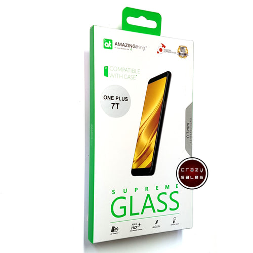 AMAZINGthing Full Tempered Glass Protector for OnePlus 7T