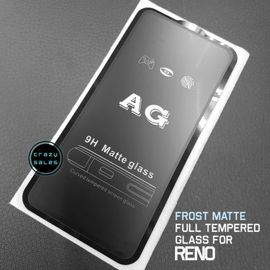 Frost Matte AntiGlare Full Tempered Glass for Oppo Reno / Reno 2