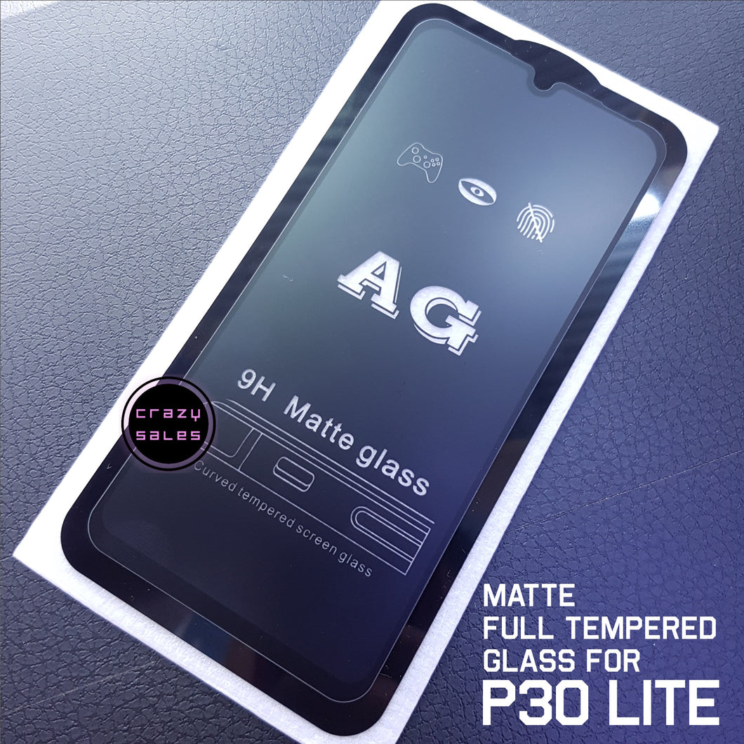 Frost Matte AntiGlare Full Tempered Glass for Huawei P30  / P30 Lite